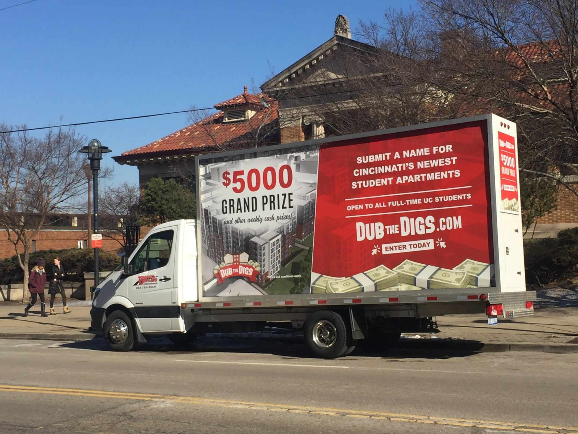 Mobile Billboard Advertising Trucks in Cincinnati, OH