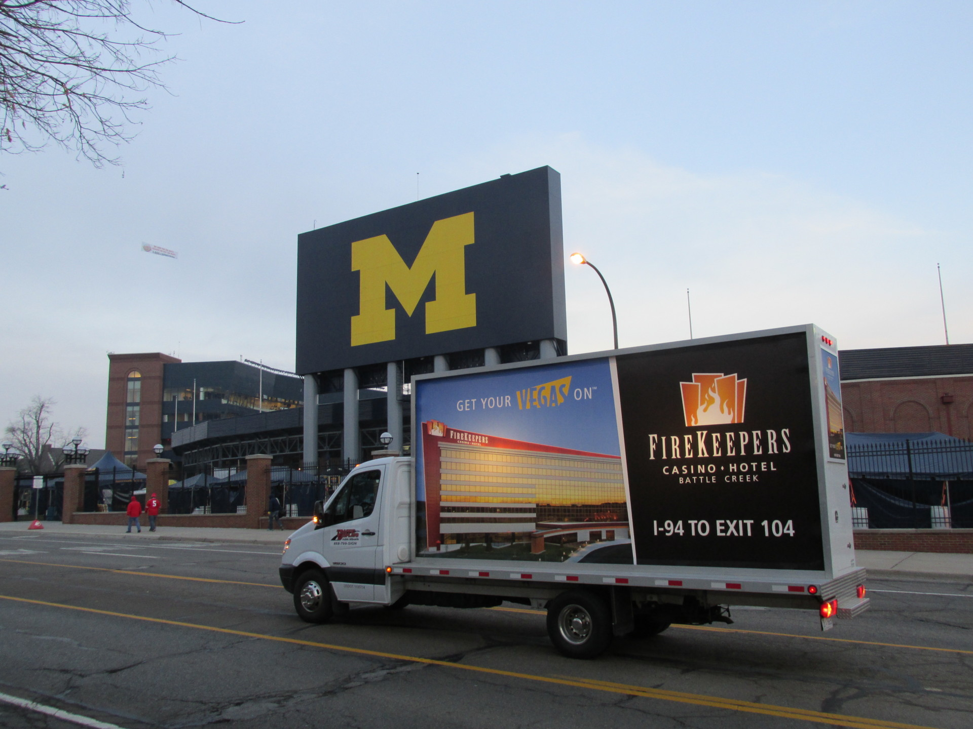 University of Michigan Mobile Billboard Truck