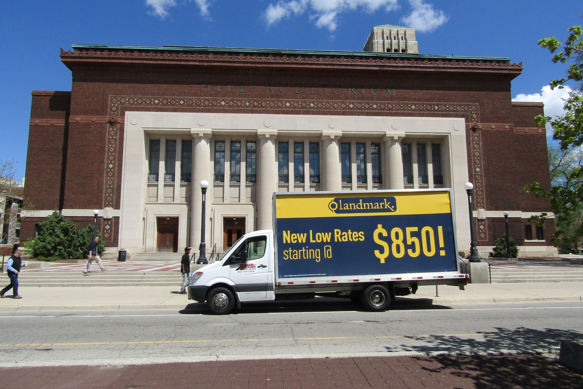 Mobile Billboard Truck in Ann Arbor, MI