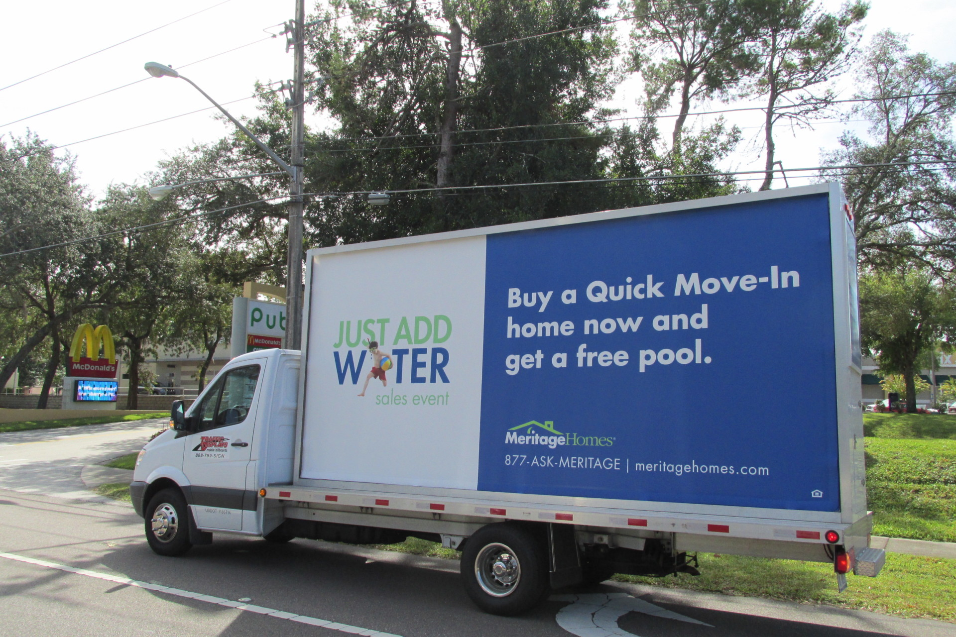 Mobile Billboard truck in Jacksonville, FL