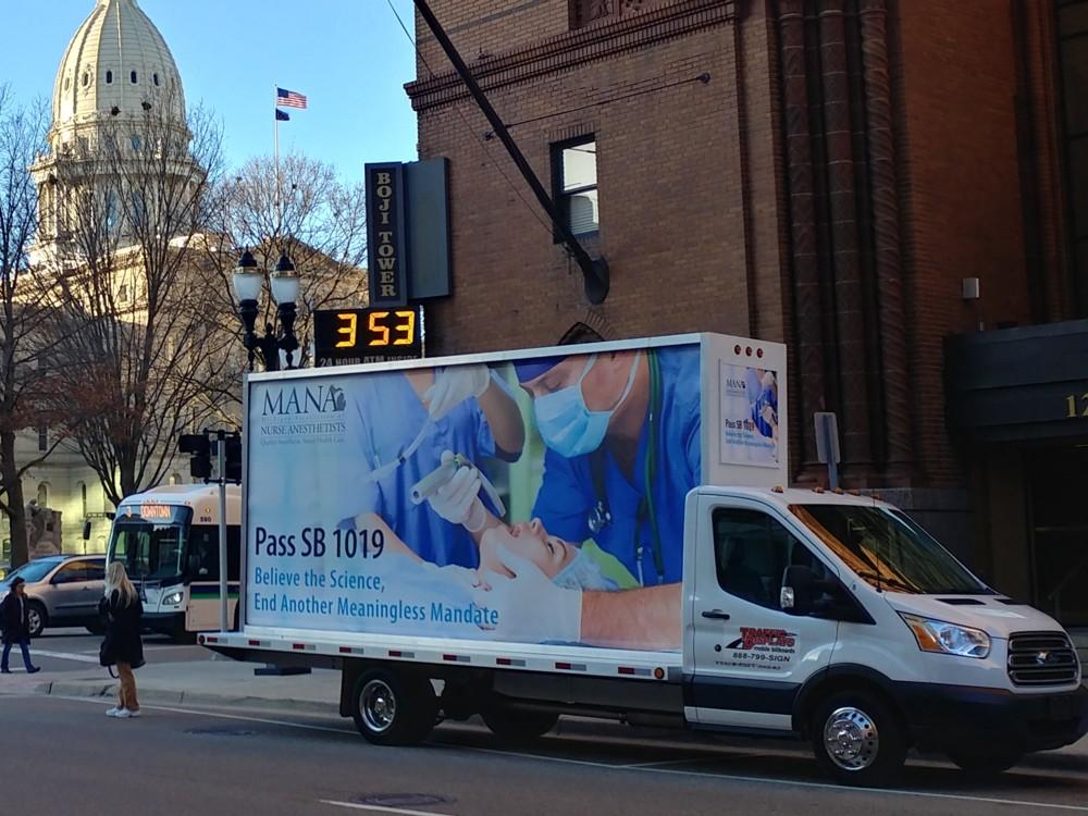 Michigan Lansing Mobile Billboards Advertising Trucks