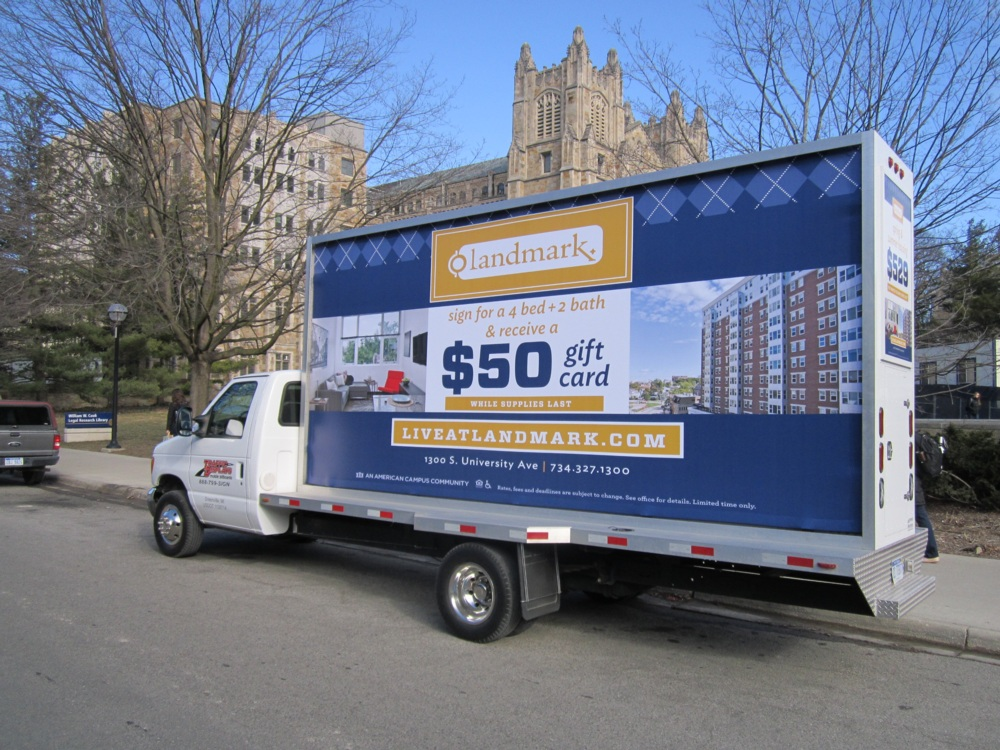 Ann Arbor Mobile Billboard Trucks