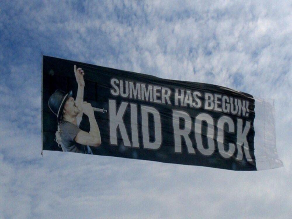 Detroit Michigan Aerial Billboard Banner Advertising Air Ad