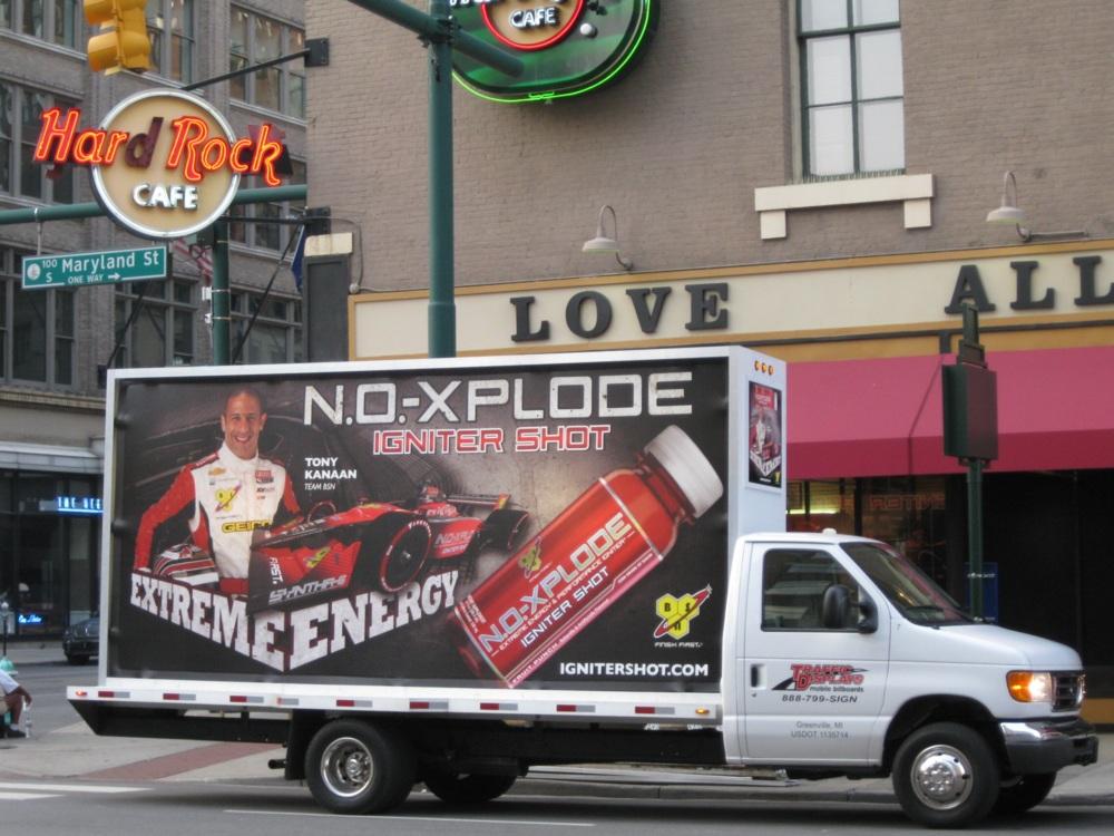 Indianapolis Mobile Billboard Advertising Truck