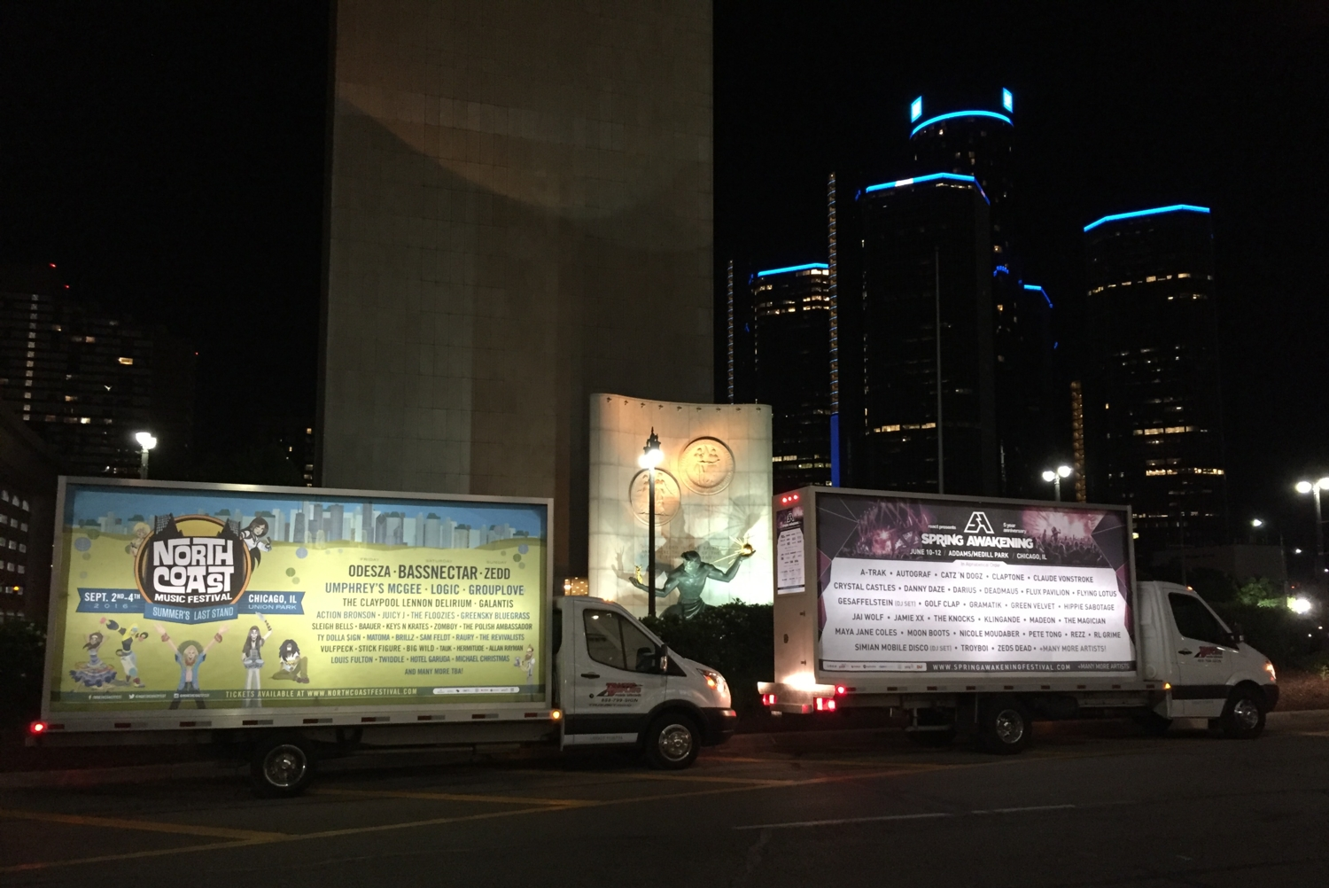mobile advertising truck detroit michigan