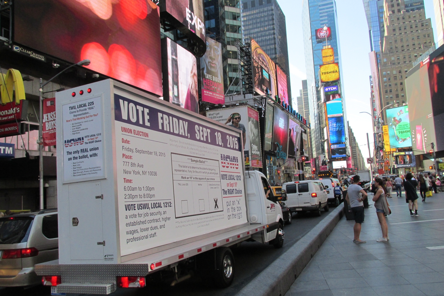 New York City Mobile Billboard Trucks